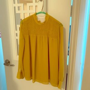 Soft, delicate blouse in beautiful mustard
